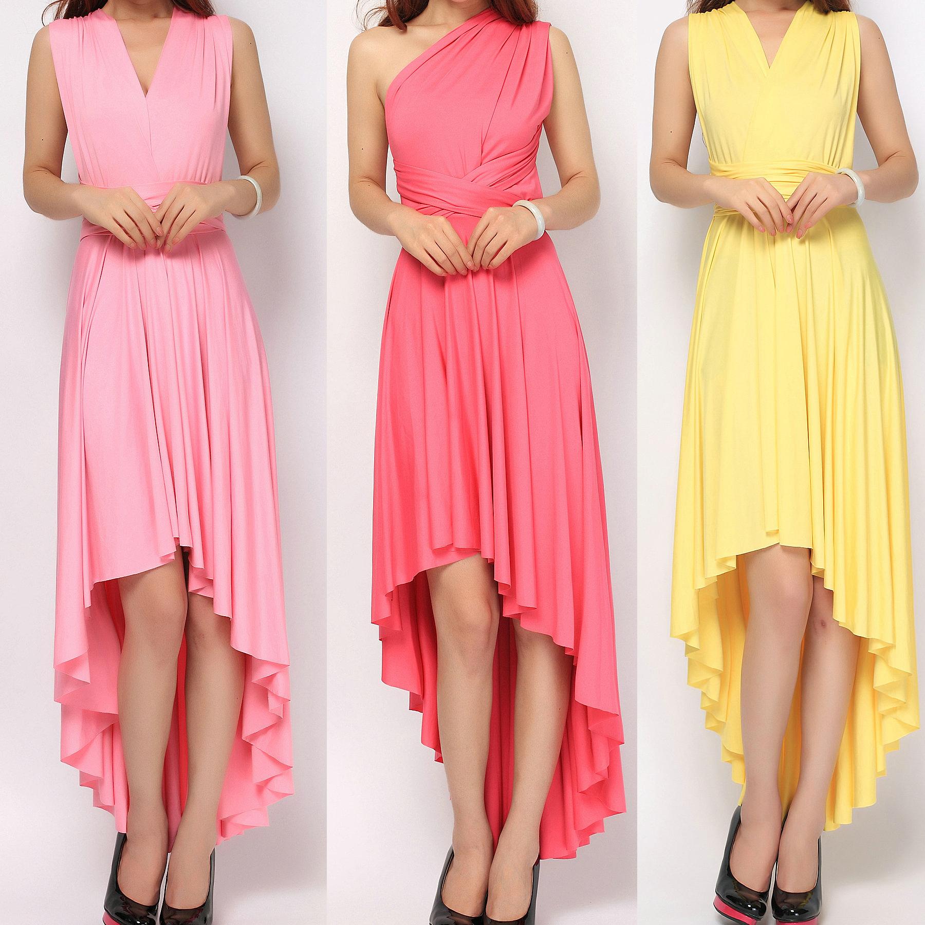 Bridesmaid dress tinnainfinitydress high low ombrellifo Image collections